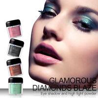 Shimmer Metallic Eyeshadow Powder Pigment Face Highlight Women Cosmetic Makeup