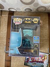 #144 Funko Pop Teal Blue Chrome Batman 2019 Gamestop SDCC 80years