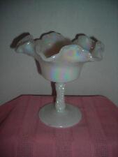 FENTON White Opalescent Compote
