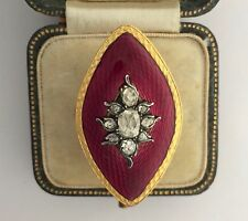 and Enamel Ring Circa 1790's A Stunning Georgian Rose Cut Diamond