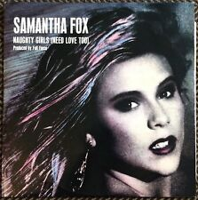 "SAMANTHA FOX,NAUGHTY GIRLS,AND DREAM CITY,VINTAGE 12"",45 RPM,EXCELLENT CONDITION"