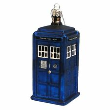 Official Doctor Who Kurt S Alder Tardis Glass 4.5 inch Christmas Ornament