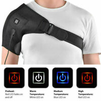 Adjustable Heated Shoulder Wrap Pad Brace Support Therapy Pain Relief Belt US