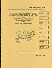 TM 9-2330-251-14&P ~ Maint & Parts List Manual ~ M416 Jeep Trailer ~ Reprnt