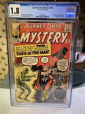 JOURNEY INTO MYSTERY #93 - CGC 1.8.. 1st App of Radioactive Man...UNRESTORED