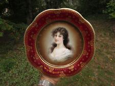 """Antique Royal Vienna Porcelain Portrait Plate Amicitia Z.B. & C. Barvaria 9 3/4"""""""