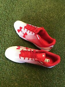 UNDER ARMOUR MENS MLB COLLECTION LEADOFF LOW RM BASEBALL CLEATS SIZE 13 RED