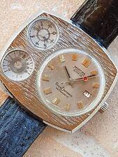 Rare MORTIMA Superdatomatic mecanique Cattin vintage compass thermo watch NR
