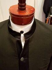 Rare Unique Mens Nehru Chinese Mandarin Priest Collar Tuxedo Jacket