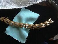 Vintage Trifari Bracelet Gold Tone & Silver Tone Bracelet