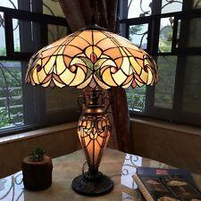 Chloe Lighting Tiffany Style 3 Lt Double Lit Table Lamp CH18780VP18-DT3