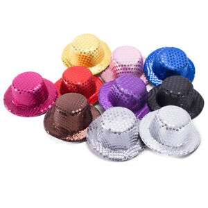 SEQUIN MINI TOP HATS Millinery Craft Making Fascinator Alligator Clips A008