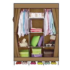 DIY Cloth Wardrobe Closet Clothes Storage Organizer Coffee With Shelve
