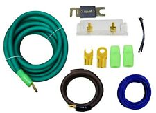 0 Gauge Amplfier Power Kit for Amp Install Wiring Green 1/0 Ga Cables 4500W