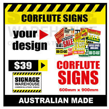 Custom Corflute Sign - Corflute 600mm x 900mm - by Signage Warehouse