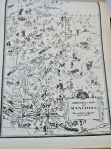 1933 Animated Map Of Manitoba By Arthur E. Elias From The Commercial Atlas
