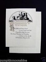 Vintage Unused Art Deco Xmas Greeting Card Serene Image of Wise Men on Camel