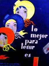 El Suplemental Art Deco SUNSET CLOTHING DYE 1931 Spanish Fashion Ad Matted
