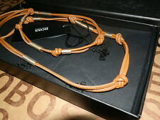 NEW HUGO BOSS LADIES WOMANS TAN BROWN LEATHER DESIGNER BAG RING NECKLACE