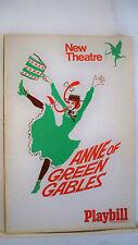 ANNE OF GREEN GABLES Playbilll POLLY JAMES / BARBARA HAMILTON London 1969