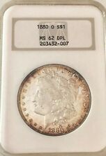 1880-0, Ngc Ms-62 Dmpl U.S. Morgan Silver Dollar- See Other Morgans & Jewelry