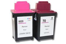 2x XXL CARTUCHO TINTA negro y color para LEXMARK 20 70 Z42, Z43, Z44, Z45, Z51
