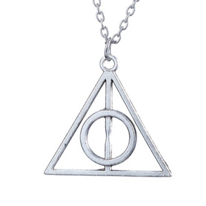 Harry Potter Deathly Hallow Necklace Pendant Hermione Cosplay Costume Accessory