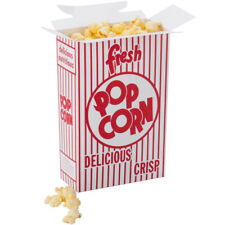 Case of 500 Popcorn Boxes 3-E Size, 1.25 oz. Closing Top Box FREE SHIPPING