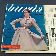 Vogue burda las modas 1/1956 - 2 patrones de corte-BG 50er años carnaval