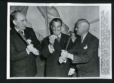 George Trautman Happy Chandler William Harridge 1948 Press Photo Minor Lg. banqu