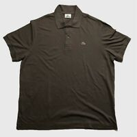 Mens Lacoste Polo Shirt XL Pale Brown Short Sleeve