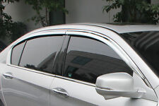 Fits Jeep Grand Cherokee 11-17 RI ABS Chrome Tape On Window Visors Rain Guards
