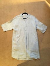 Ladies Whistles Blue Linen Shirt Dress Size 12-14 (M)