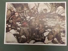 """1909 reimpresión Rackham Rip Van Winkle """"una compañía de placa impar buscando personas.."""""""