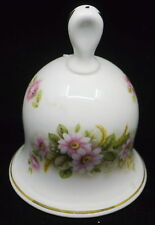 VINTAGE ROYAL WORCESTER PALISSY CHINA BELL WITH FLOWER DECORATION, ENGLAND