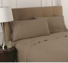T200 Khaki Fitted Sheets (Quantity 12)