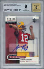 Aaron Rodgers Signed Auto 2005 UD Foundations AU Football Card Beckett BGS 9 9