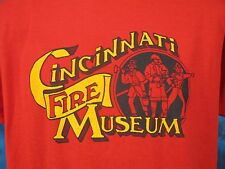 vintage 80s CINCINNATI OHIO FIRE MUSEUM PAPER THIN T-Shirt LARGE fighter dept