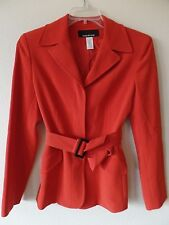 Jones New York Womens 6 Dark Orange B/F Jacket Blazer Wool Rayon Triacetate Poly