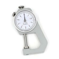 Dial Thickness Gauge Gage 20mm/0.1mm Increment Flat Measure Head