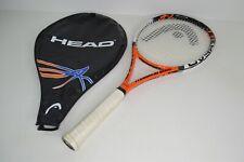 New listing Head Ti Radical Elite Tennis Racquet Grip 4 3/8 3 Grip w/ Case Cover Orange