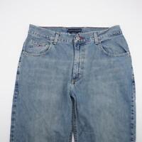TOMMY HILFIGER Loose Fit Straight Leg Jeans Light Wash Denim Mens 32x32