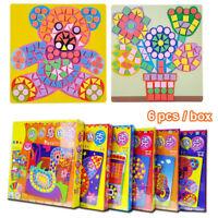 Craft DIY Kits Kids Game  Stickers Drawing toys EVA Foam  3D Mosaics Puzzle