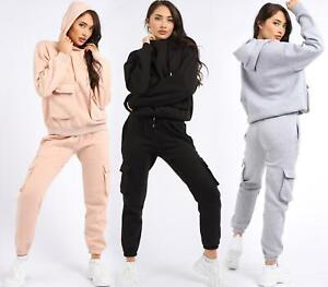 Womens loungewear Size 14 12 10 8 sweat suit 2 piece tracksuit Peach Black Grey
