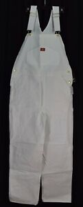 Dickies Men's Painters Bib Overall White Tag Size 34W 32L