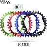 VNM 104BCD Mountain Bike Chainrings Round Narrow Wide 30T Bike CHainwheel