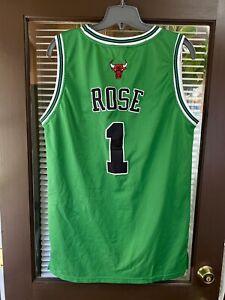Vintage Chicago Bulls Derrick Rose NBA Adidas Jersey St. Patrick's Day Sz 54