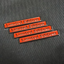 4x Red Black LIMITED EDITION Metal Badge Emblem Sticker Premium Racing coupe 3D