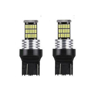 2x Ampoule T20 LED W21 W Veilleuse 46 Leds Blanc xenon 6000K Canbus 7440 12V