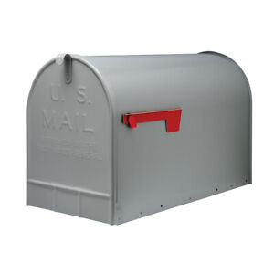 Gibraltar Mailboxes ST200000 Heavy Duty Steel Stanley Post Mount Mailbox, Gray